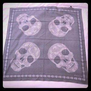 Alexander McQueen multi skull cotton scarf NWT